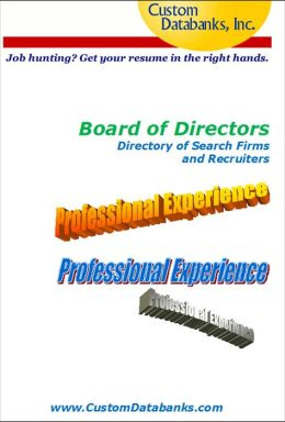 Board of Directors eBook Directory of Search Firms and Recruiters