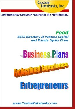 Food Industry eBook Directory of Venture Capital and Private Equity Firms