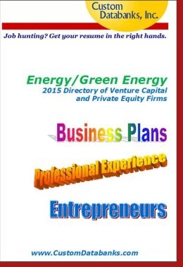 Energy/Green Energy 2015 Directory of Venture Capital and Private Equity