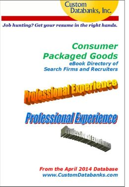 Consumer Packaged Goods Directory of Search Firms and Recruiters