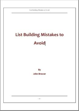 List Building Mistakes to Avoid