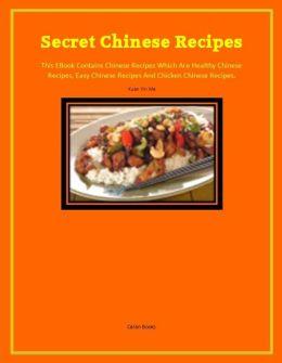 Secret Chinese Recipes