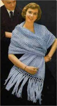 Crochet Concerto Shawl Pattern - Vintage Shawl to Crochet