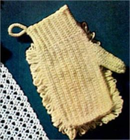 Crochet Dusting Mitt Pattern - Vintage Crochet Pattern for a Dusting Mitt Duster Crocheting