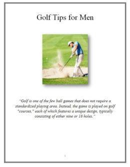 Golf Tips for Men