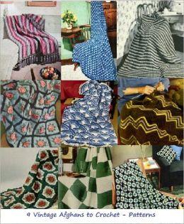 Nine Vintage Crochet Afghans Patterns - Crochet Patterns for Floral, Checker and More Afghans