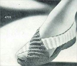 Cozy Slippers, Vintage Antique Slipper Patterns to Crochet