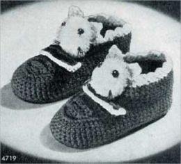 Soft Warm Slippers For Children – Vintage Slipper Patterns to Crochet For Children
