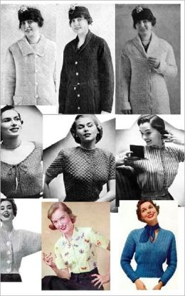 Vintage Crochet Sweater Patterns - 9 Crochet Sweater and Blouse Patterns for Sizes 12 to 20
