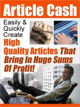 Article cash