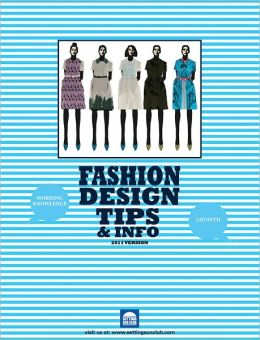 Fashion Design Career Tips