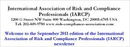 Risk Management News, September 2011 (94 pages, 28846 words)