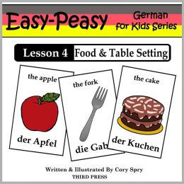 German Lesson 4: Food & Table Setting (Learn German Flash Cards)