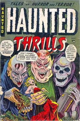 Vintage Horror Comics: Haunted Thrills-- Blood in the Sky