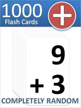 1000 Addition Flash Cards