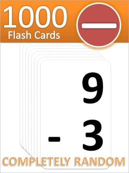 1000 Subtraction Flash Cards