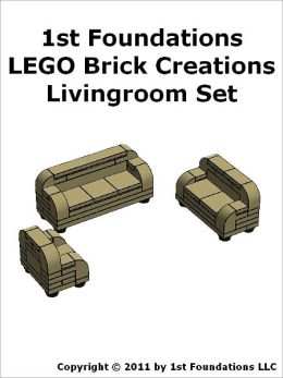 1st Foundations LEGO Brick Creations - Livingroom Set