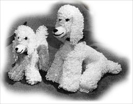 Poodle and Puppy Crochet Patterns - Stuffed Poodle Pattern (#107)