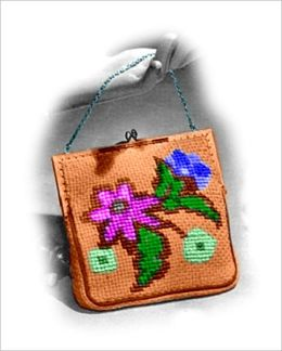 Evening Bag with Flowers Knitting Pattern (#112)