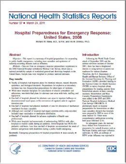 Hospital Preparedness for Emergency Response: United States, 2008