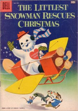 The Littlest Snowman Rescues Christmas Childrens Comic Book