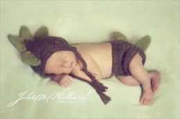 CROCHET PATTERN PDF-Baby dino set -2 sizes