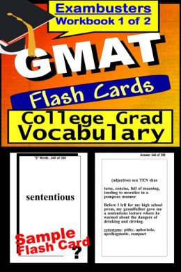 GMAT Study Guide College Graduate Vocabulary--GMAT Flashcards--GMAT Prep Workbook 1 of 2