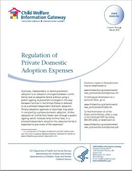 Regulation of Private Domestic Adoption Expenses