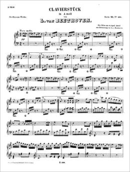 Fur Elise (Piano Sheet Music)