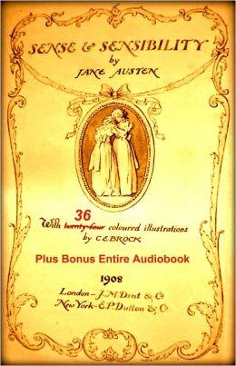 SENSE AND SENSIBILITY [PREMIUM EDITION] 36 Beautiful Classic Color Illustrations, Active Linked Table of Contents, & BONUS Entire Audiobook