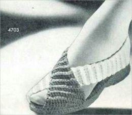 Zapatillas acogedoras, Vintage zapatilla antiguos patrones a Crochet