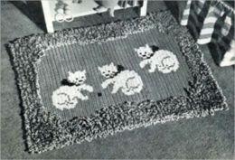 Vamos a ganchillo una alfombra – patrones Vintage para alfombras de ganchillo