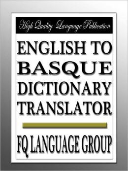 English to Basque Dictionary Translator