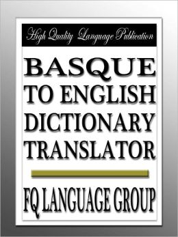 Basque to English Dictionary Translator