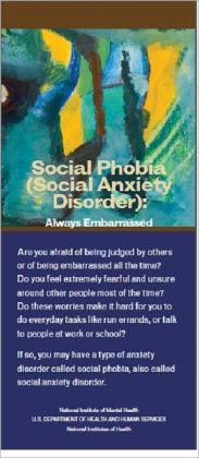Social Phobia (Social AnxietyDisorder): Always Embarrassed