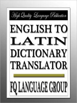 English to Latin Dictionary Translator