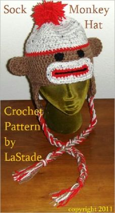 Sock Monkey Hat with earflaps and braids Crochet Pattern Instructions