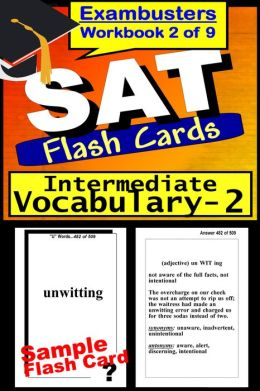 SAT Study Guide Intermediate Vocabulary--SAT Flashcards--SAT Prep Workbook 2 of 9