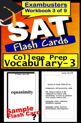 SAT Study Guide College Prep Vocabulary--SAT Flashcards--SAT Prep Workbook 3 of 9