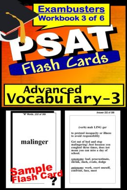 PSAT Study Guide Advanced Vocabulary--PSAT Flashcards---PSAT-NMSQT Prep Workbook 3 of 6