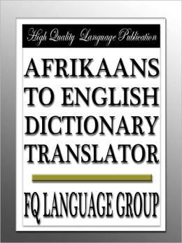 Afrikaans to English Dictionary Translator