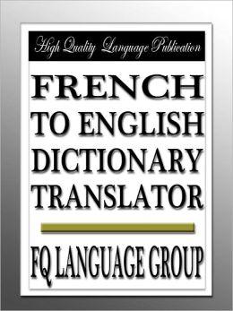 French to English Dictionary Translator