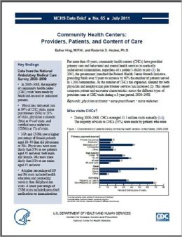 Community Health Centers: Providers, Patients, and Content of Care