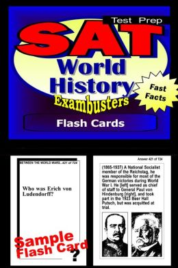 SAT World History Study Guide--SAT 2 History Flashcards--SAT 2 Prep Workbook