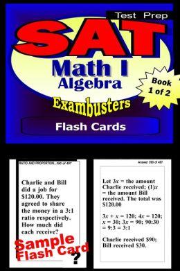 SAT 2 Math Level I Study Guide--SAT 2 Algebra Flashcards--SAT 2 Prep Workbook 1 of 2