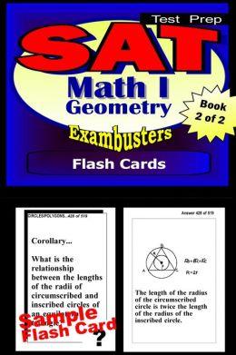 SAT 2 Math Level I Study Guide--SAT 2 Geometry Flashcards--SAT 2 Prep Workbook 2 of 2