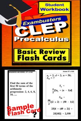CLEP Test Precalculus--CLEP Math Flashcards--CLEP Prep Exam Workbook