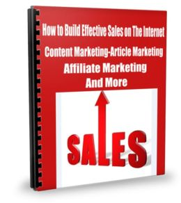 How to Build Effective Sales on The Internet Content Marketing-Article Marketing-Affiliate Marketing And More