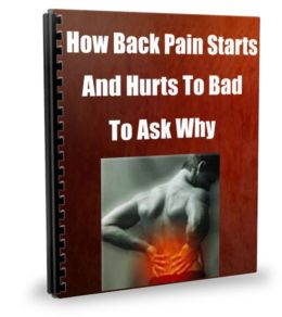 How Back Pain Starts-And Hurts To Bad To Ask Why