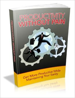 Productivity Without Pain Get More Productive While Maintaining Your Sanity!